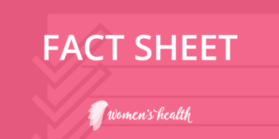 Health Decisions Women's Health Fact Sheet Banner