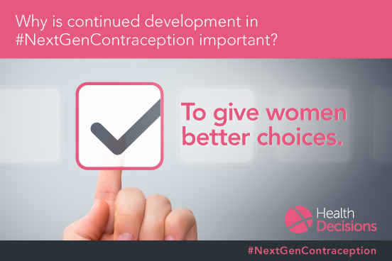 Health Decisions Supports the Nextgen Contraceptives Campaign